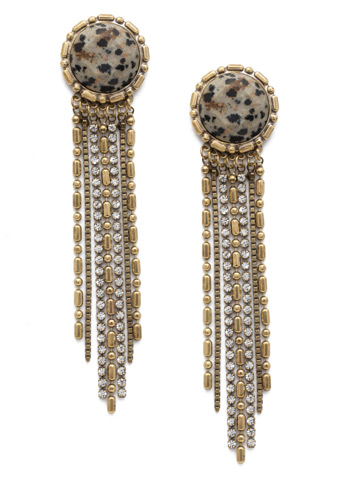 Solane Statement Earring in Antique Gold-tone Natural Elements