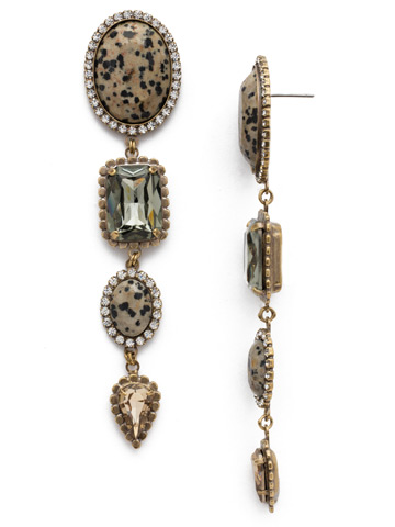 Elliana Statement Earring in Antique Gold-tone Natural Elements