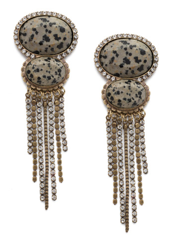 Malia Statement Earring in Antique Gold-tone Natural Elements