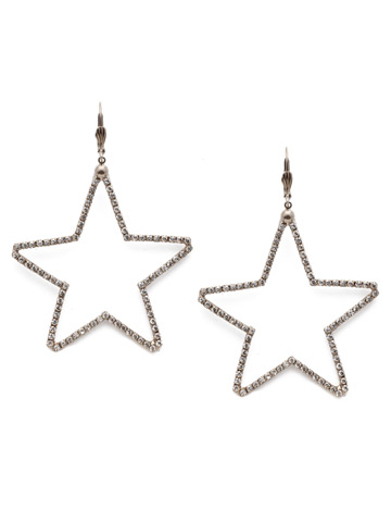 Starmont Statement Earring in Antique Silver-tone Crystal