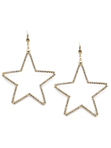 Starmont Statement Earring in Bright Gold-tone Crystal