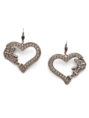 Suzette French Wire Earring in Antique Silver-tone Polished Pearl