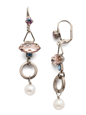Aryana French Wire Earring in Antique Silver-tone Stargazer