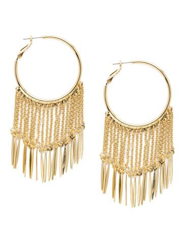 Teodora Hoop Earring in Bright Gold-tone Polished Pearl