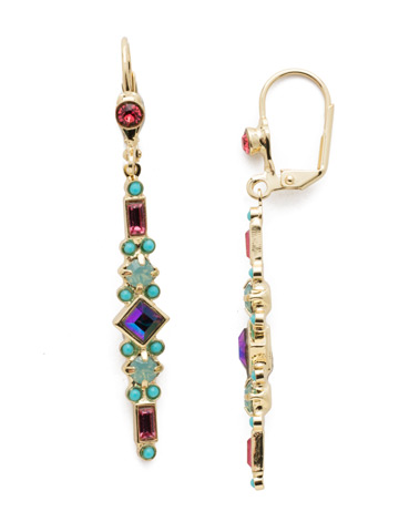 Sadie Drop Earring in Bright Gold-tone Candy Pop