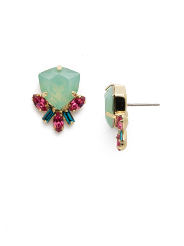 Skylar Stud Earring in Bright Gold-tone Candy Pop