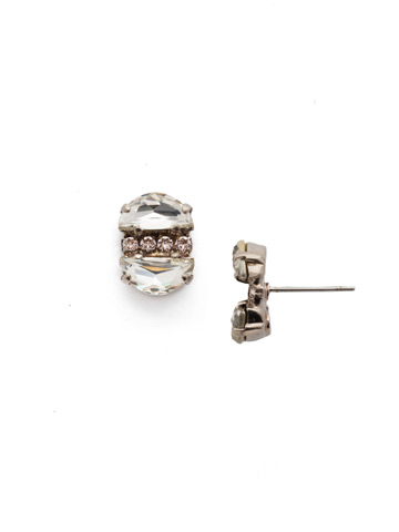 Mirra Stud Earring in Antique Silver-tone Silky Clouds