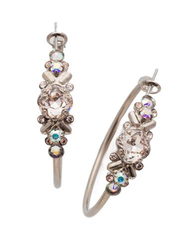 Rosina Hoop Earring in Antique Silver-tone Silky Clouds