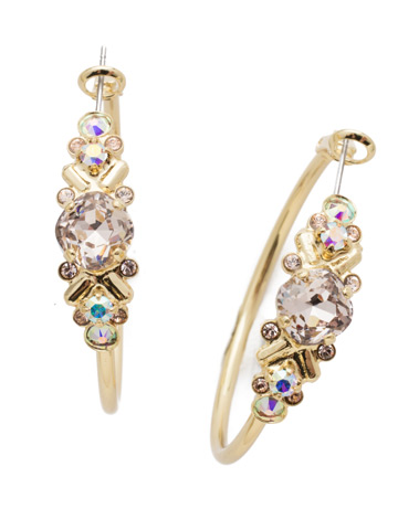 Rosina Hoop Earring in Bright Gold-tone Silky Clouds