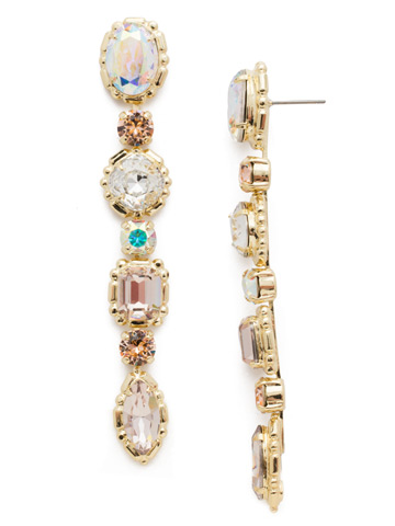 Ursula Statement Earring in Bright Gold-tone Silky Clouds