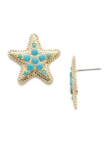 Astaria Stud Earring in Bright Gold-tone Candy Pop