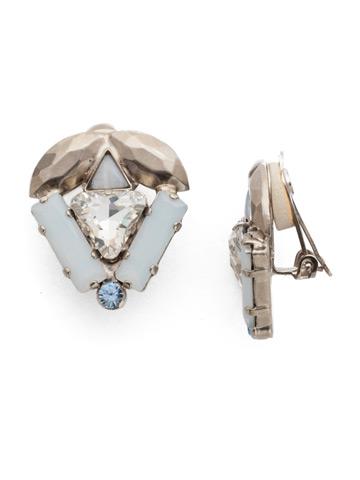 Jeyne Clip Earring in Antique Silver-tone Glacier