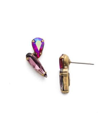 Emilia Post Earring in Antique Gold-tone Game of Jewel Tones