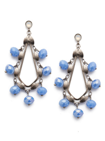 Cacey Drop Earring in Antique Silver-tone Glacier