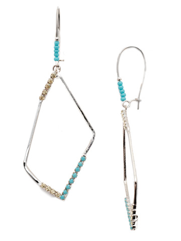 Augustine French Wire Earring in Rhodium Tahitian Treat