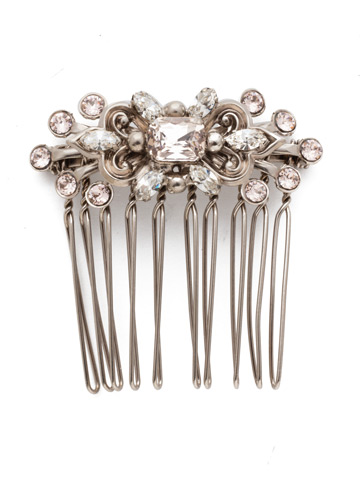 Blythe Hair Comb in Antique Silver-tone Soft Petal