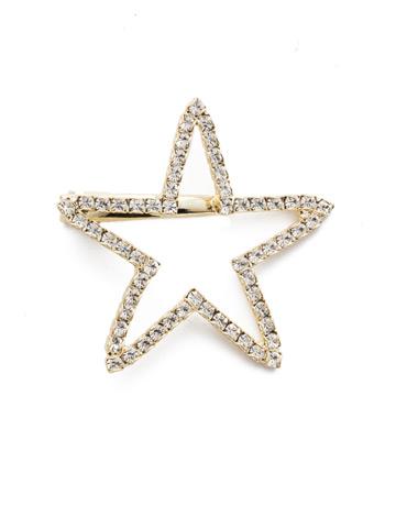 Starmont Barrette in Bright Gold-tone Crystal