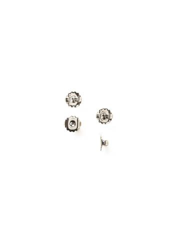 Monster Earring Backs (4 Pack) in Antique Silver-tone