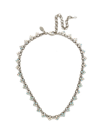 Luxe Lace Necklace in Antique Silver-tone Pink Mutiny