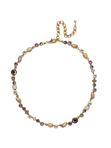 Classic Tee-Shirt Necklace in Antique Gold-tone Beach Comber