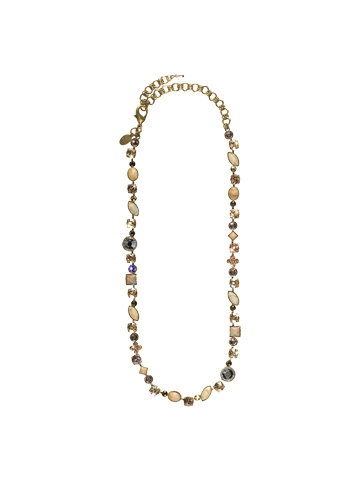 Classic Tee-Shirt Necklace in Antique Gold-tone Raw Sugar