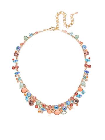 Colette Necklace in Bright Gold-tone Mango Tango