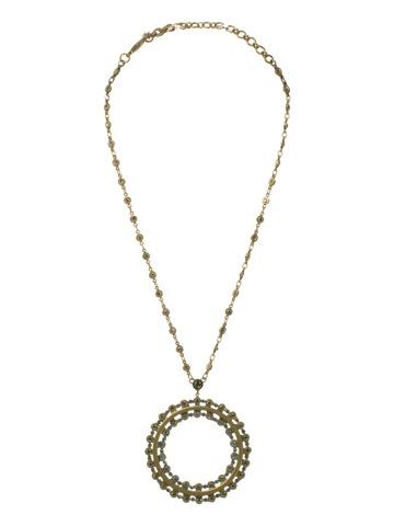 Sorrelli Necklace in Antique Gold-tone Aqua Bubbles