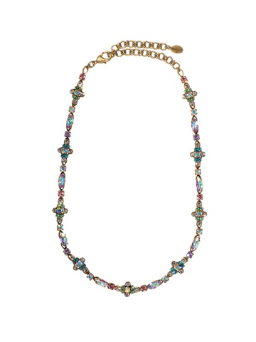 Sorrelli Cluster Station Necklace in Antique Gold-tone Smitten