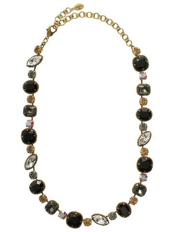 Cushion Cut Necklace in Antique Gold-tone Evening Moon