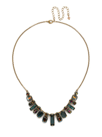 Regal Rectangles Necklace in Antique Gold-tone Volcano