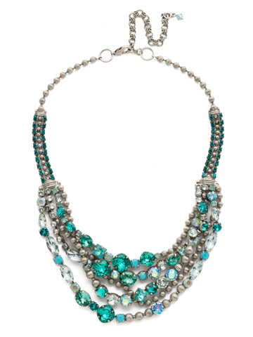 Red Carpet Layering Necklace in Antique Silver-tone Sweet Mint