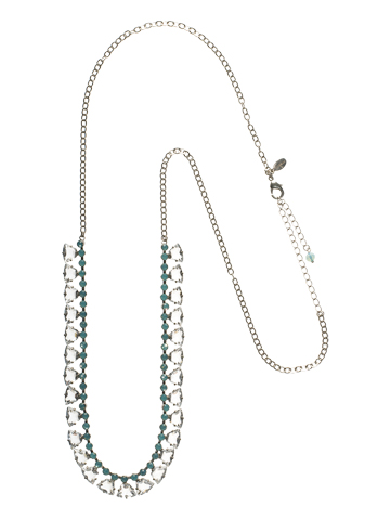 Rich Radiance Necklace in Antique Silver-tone Aegean Sea