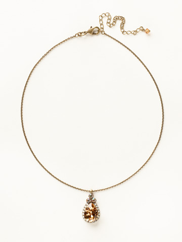 Sweet Sparkle Necklace in Antique Gold-tone Amaretto