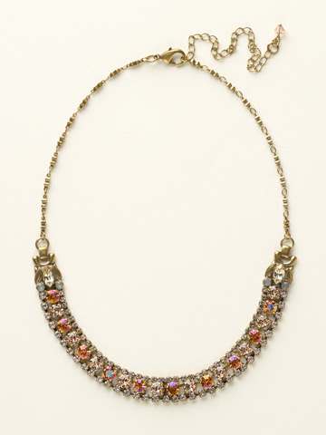 Right on Track Necklace in Antique Gold-tone Desert Sun