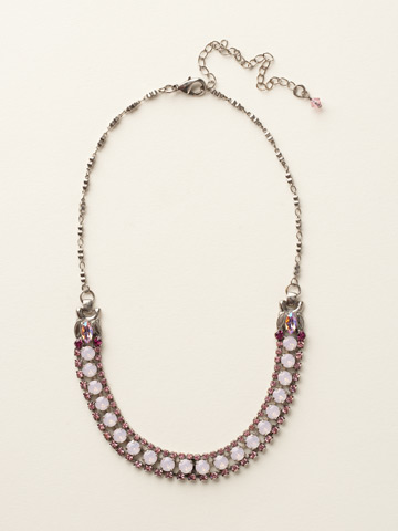Right on Track Necklace in Antique Silver-tone Sweet Heart