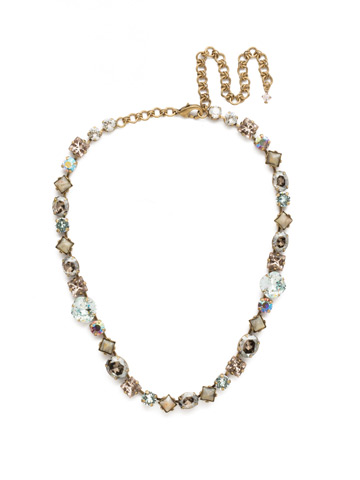 Heather Necklace in Antique Gold-tone Washed Waterfront
