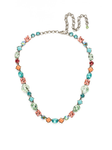 Heather Necklace in Antique Silver-tone Vivid Horizons