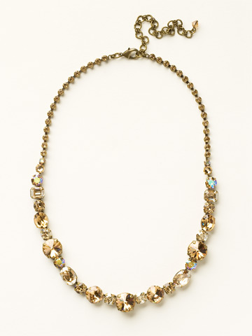 Graduated Classic Necklace in Antique Gold-tone Neutral Territory