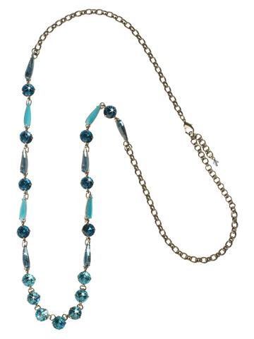 Delicately Draped Necklace in Antique Silver-tone Emerald Coast