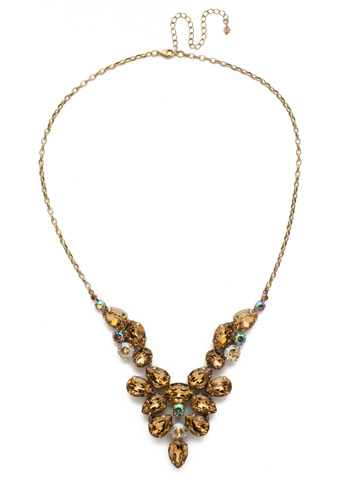 Chambray Statement Necklace in Antique Gold-tone Neutral Territory