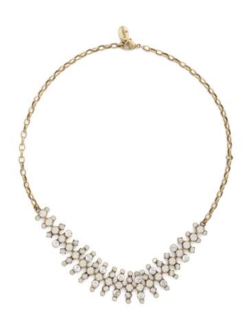 Fine Line Choker in Antique Gold-tone Pearl Luster