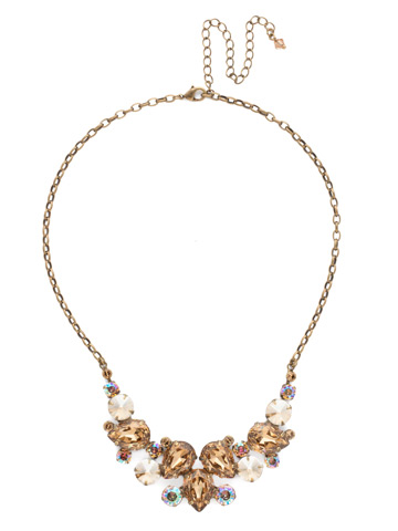 Nested Pear Statement Necklace in Antique Gold-tone Neutral Territory
