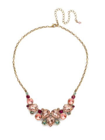Nested Pear Statement Necklace in Antique Gold-tone Radiant Sunrise