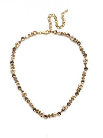 In Bloom Line Necklace in Antique Gold-tone Neutral Territory