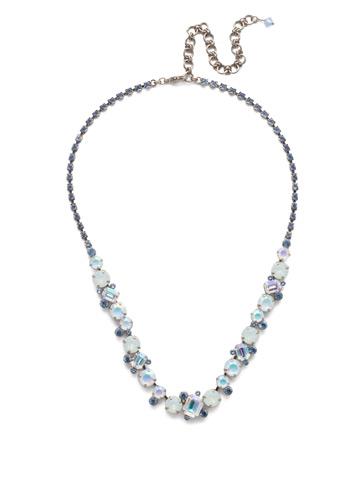 Sophisticate Classic Line Necklace in Antique Silver-tone Glacier