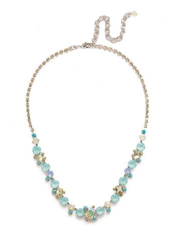 Sophisticate Classic Line Necklace in Rhodium Tahitian Treat