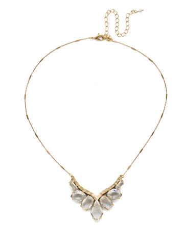 To the Point Necklace in Antique Gold-tone Crystal