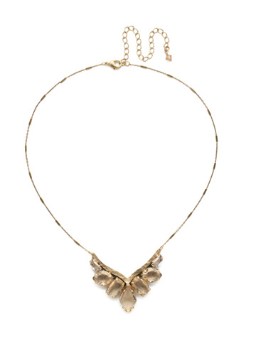 To the Point Necklace in Antique Gold-tone Neutral Territory