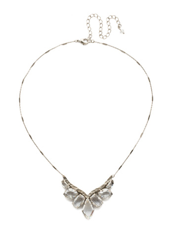 To the Point Necklace in Antique Silver-tone Crystal