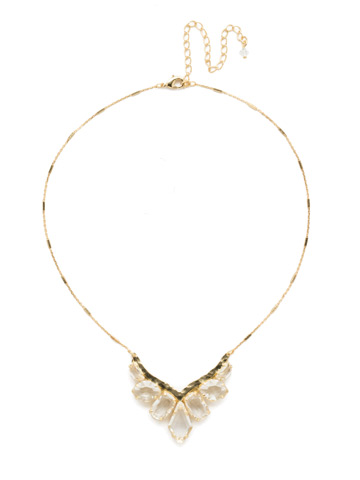 To the Point Necklace in Bright Gold-tone Crystal